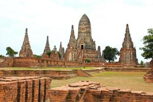 Old Temple Wat Chaiwatthanaram of Ayutthaya Province ,Thailand.