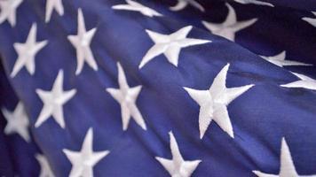 Fondo patriótico del cuatro de julio (primer plano de la bandera americana) foto