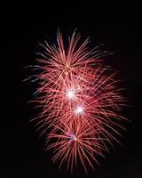 4 de julio celebración de fuegos artificiales