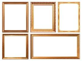glod  picture frame photo