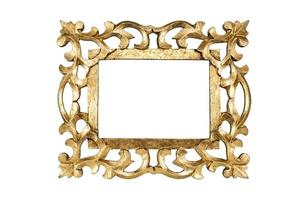 Gold picture frame photo