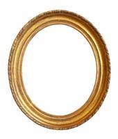 marco dorado ovalado