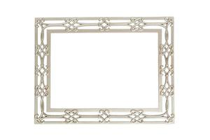 Isolated silver picture frame photo
