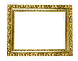 antique golden picture frame photo