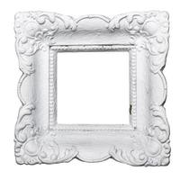 White rustic picture frame photo
