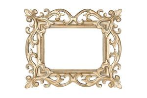 Gold carved picture frame photo