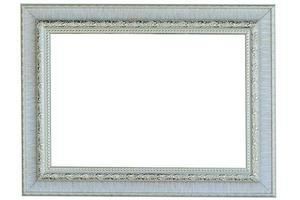 Empty old painting frame photo