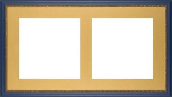 marco de imagen azul