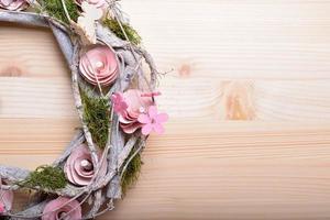 corona ornamental de primavera