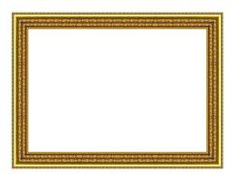 vintage gold frame isolated on white background, with clipping path. photo