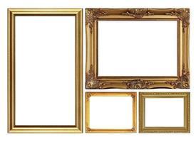 moldura dourada antiga isolada no branco
