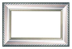 silver vintage picture and photo frame isolated