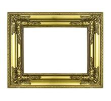 gold picture frame. Isolated on white background photo