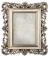 baroque style silver picture frame with canvas photo
