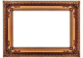 Massive Antique Gold Picture Frame photo