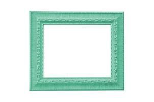 green picture frame isolate on which background photo