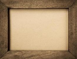 Vintage style wooden picture frame