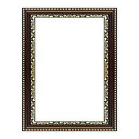 Antique  frame on the white background photo