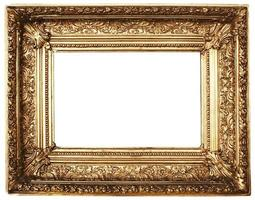 Ornamented Picture Frame Gold (Path Included) photo