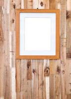 photo frame on wooden board