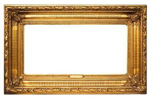 Wide Golden Picture Frame w/ Path photo