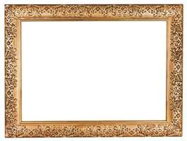 antiguo marco barroco ancho dorado foto