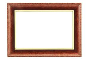 Old/vintage picture frame on isolated white background photo