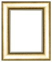 Gold vintage picture and photo frame isolated