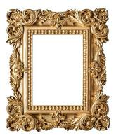 Picture frame baroque style. Vintage art gold object photo