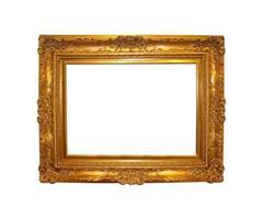 Vintage golden frame photo