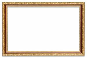 Frame photo on isolated white drop shadow.