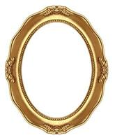 Oval retro frame photo