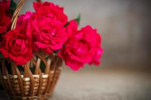 beautiful bouquet of red roses photo