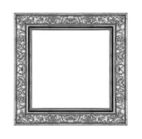 vintage gray frame isolated on white background and clipping path photo