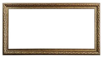 Golden Old Frame, Isolated on White photo