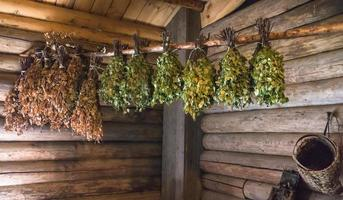 Birch branches for use in banya photo