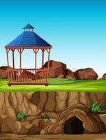 construcción de parque de animales sin animales