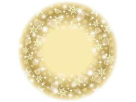 Round winter frame design with snowflakes
