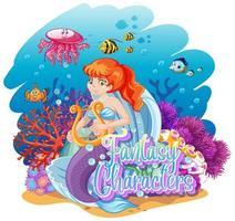 sirena en el mundo submarino