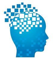 Artificial Intelligence Concept Design vector