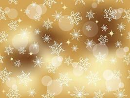 Festive snowflakes in a seamless pattern background vector
