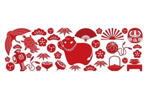 Year of the ox asian icon background vector