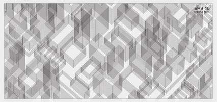 espacio de estructura metálica de matriz abstracta del edificio vector