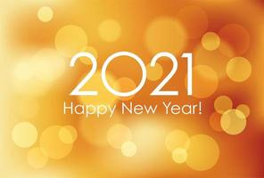 Abstract Bokeh Effect for 2021 New Year's Card vector