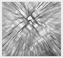espace filaire de matrice abstraite du bâtiment vecteur
