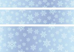 Festive snowflakes in a seamless banner background