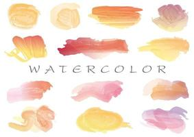 Watercolor brush stroke icon collection