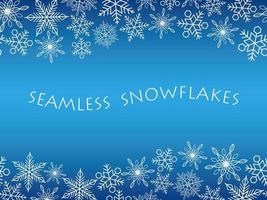 Horizontally continuous background with snowflakes vector