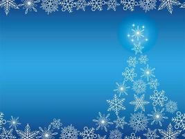 Christmas tree with snowflakes banner background vector
