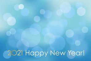 Abstract Bokeh Effect for 2021 New Year's Card